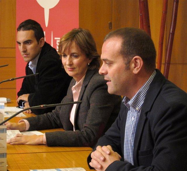 Francisco Iglesias, Mayte Ciriza Y Abel Díez, De Izda. A Derecha