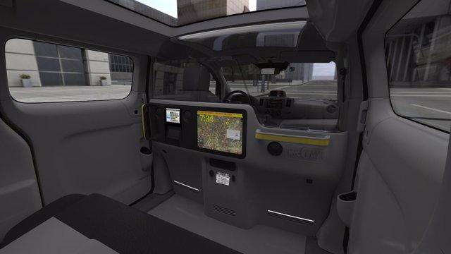 Interior Del Nissan NV200 Que Será Taxi En Nueva York