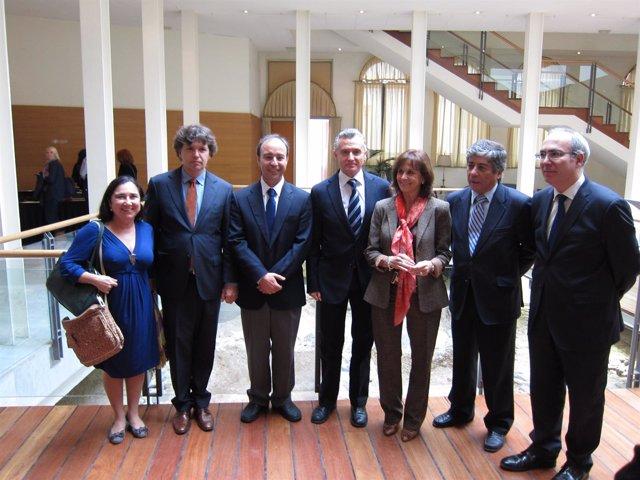 Plata, Martel Y Farias, En La Inauguración De Las Jornadas