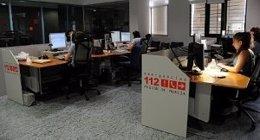 Sala De Control Del Servicio De Emergencias 112 De La Región De Murcia