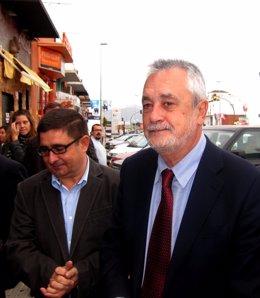 Griñán, Junto Al Secretario Provincial Del PSOE De Jaén, Francisco Reyes