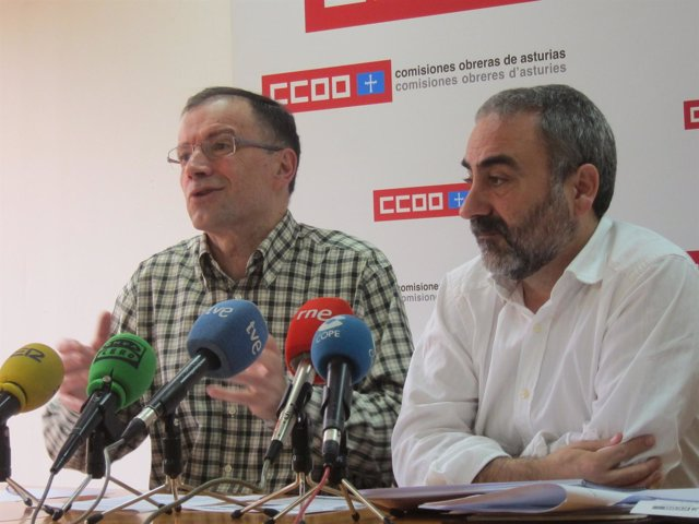 J. Antonio Rodríguez (Izda) Y Justo Ruiz (Dcha), De CCOO