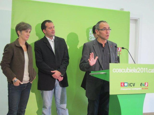 Dolors Camats, Alberto López Y Joan Coscubiela (ICV-Euia)