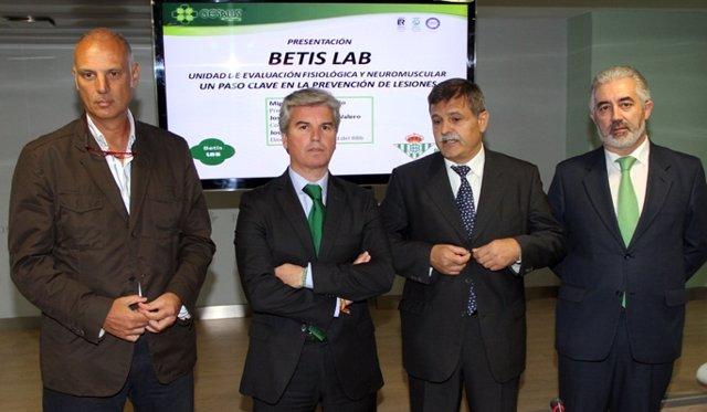 Guillén, Bosch Y Calero En La Presentación De 'Betis Lab'