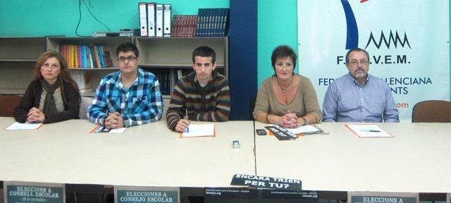 Representantes De Faavem Y La Confederación De Ampas Gonzalo Anaya