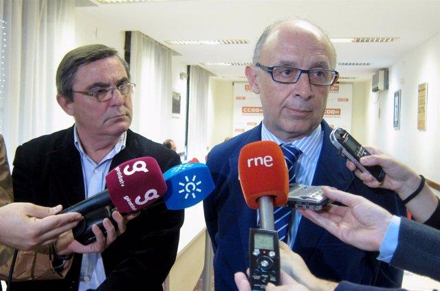 Cristobal Montoro (PP) Y Alfonso Vidán, De CCOO Sevilla