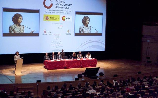 La Reina Doña Sofía Interviene En La Apertura De La V Cumbre Del Microcrédit
