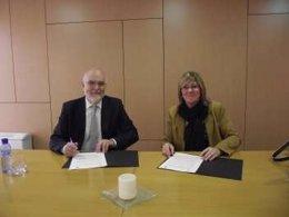 Bozal Firma El Acuerdo Con El Decano Del Colegio De Abogados De Lleida