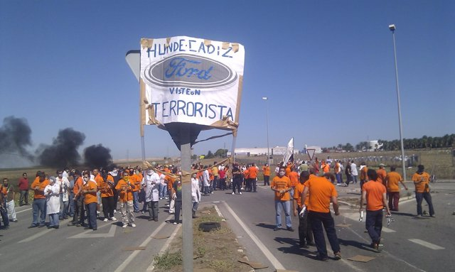 Trabajadores De Visteon En Una Protesta