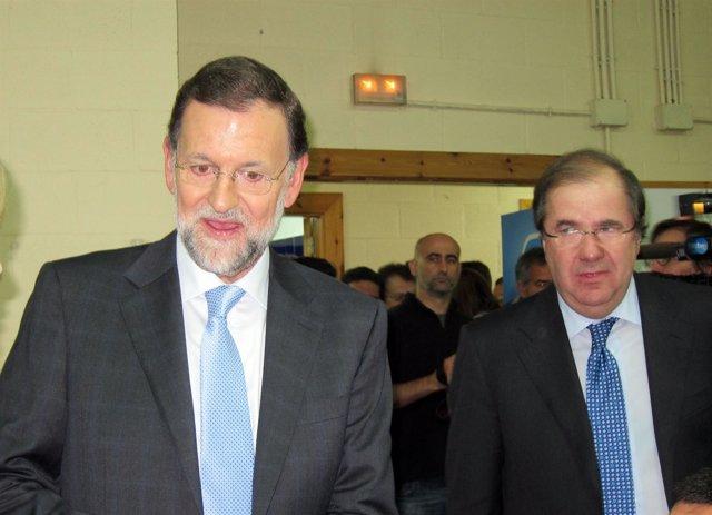 Rajoy Y Herrera En La Llegada Al Acto Público De León