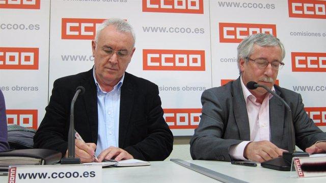 Cayo Lara Y Toxo Reunidos En La Sede De CCOO