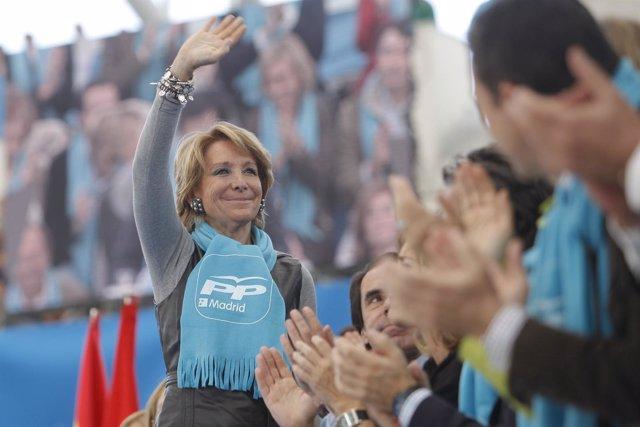 PP MADRID MITIN LAS ROZAS AZNAR, AGUIRRE, GARCÍA ESCUDERO Y ALCALDE LAS ROZAS