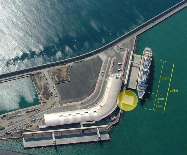 Imagen De La Ampliación Del Atraque Sur Del Puerto De Málaga