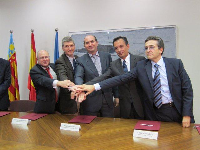 Verdeguer Con Los Representantes De Los CEEI.
