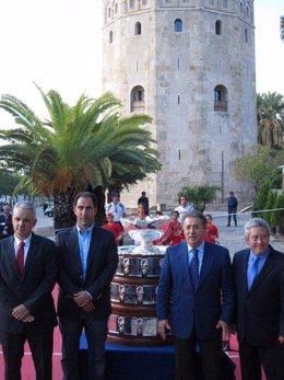 Llegada De La Copa Davis A Sevilla