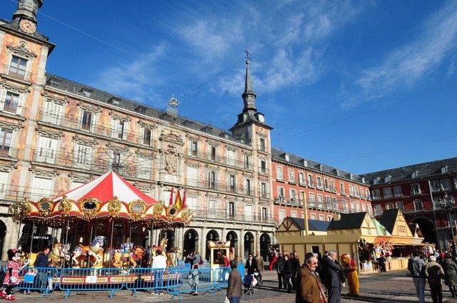 Plaza Mayor de Madrid en navidad
