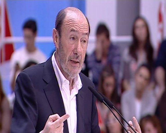 """Rubalcaba: """"El PP no quiere que haya campaña"""""""