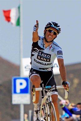 Alberto Contador Vence En El Etna