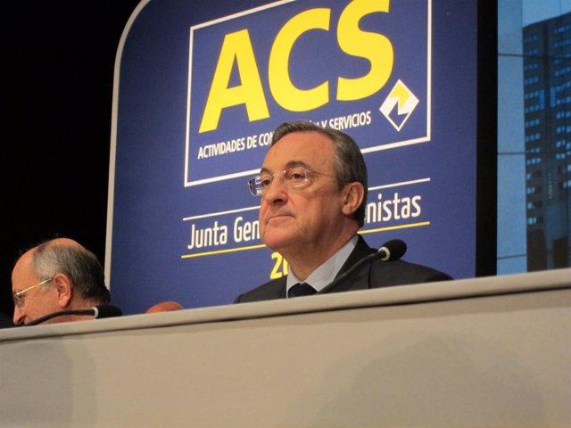 El Presidente De ACS, Florentino Pérez