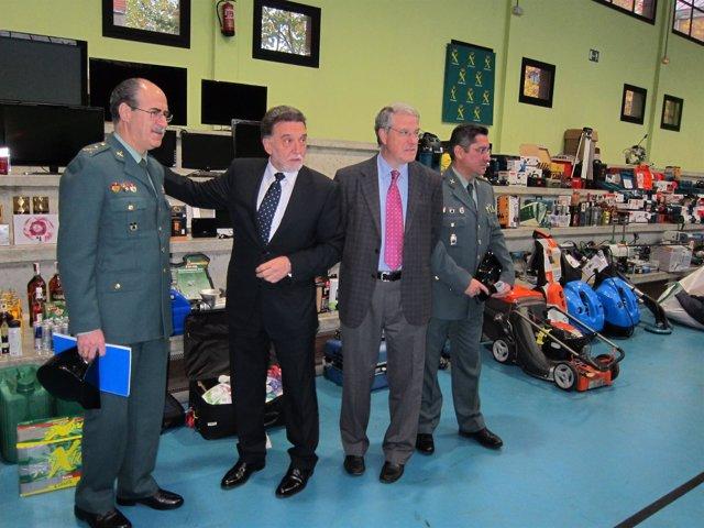 Miguel Alejo, Jesús Málaga Y Responsables De La Guardia Civil