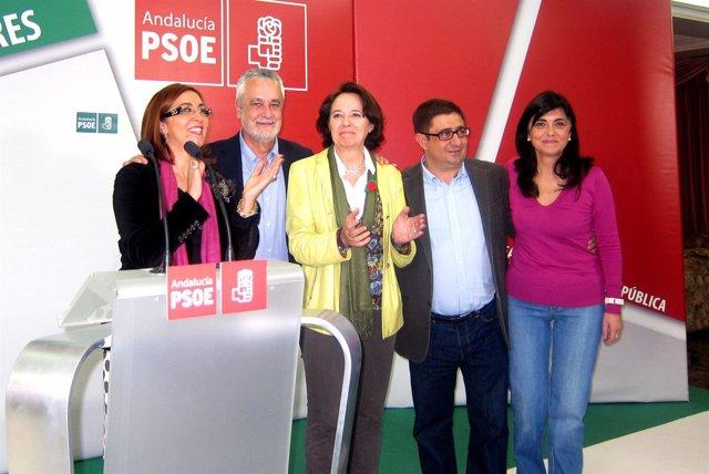 Griñán Con Los Candidatos De Jaén.