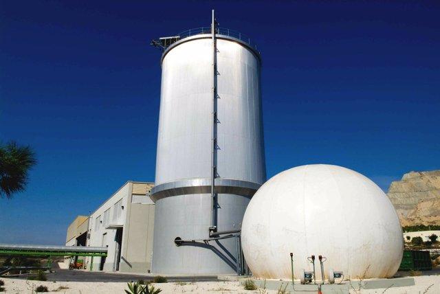 La Planta De Biogás Del Centro De Tratamiento De Residuos
