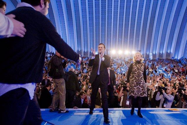 Mariano Rajoy En Un Acto En Oviedo