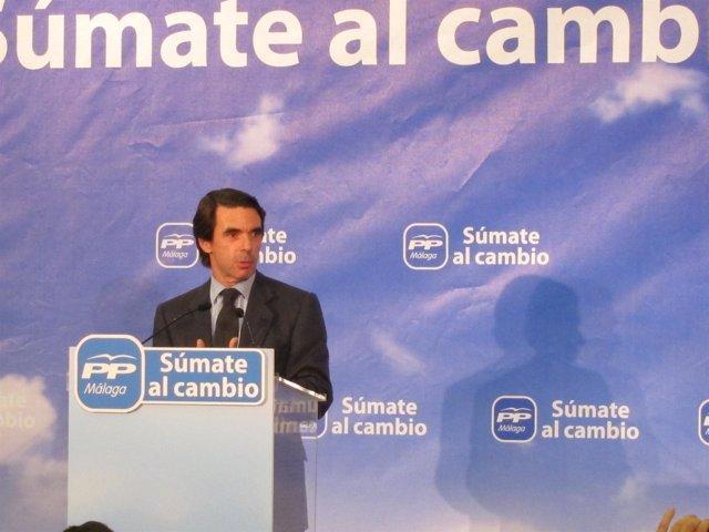 José María Aznar En Un Acto En Fuengirola (Málaga)