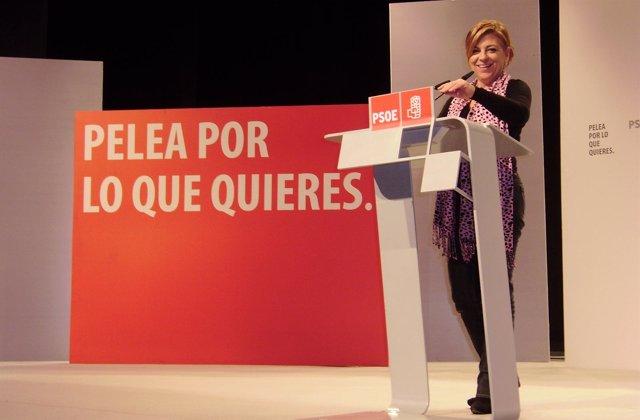 Elena Valenciano En Un Acto En Alcázar De San Juan
