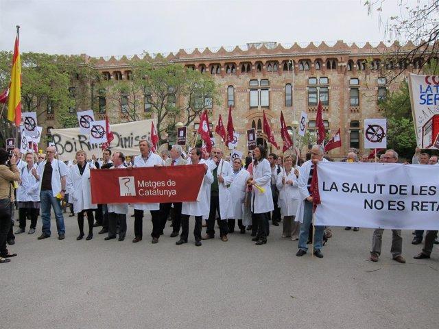 Protesta De Médicos De Catalunya, Abril 2011