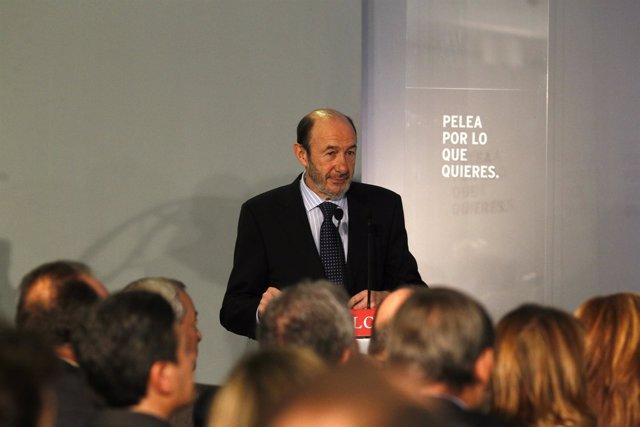 Candidato Del PSOE A La Presidencia Del Gobierno, Alfredo Pérez Rubalcaba