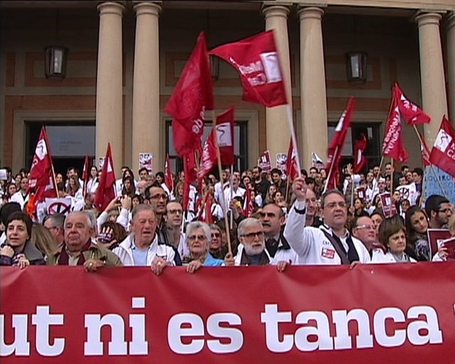 Huelga De Médicos En Barcelona