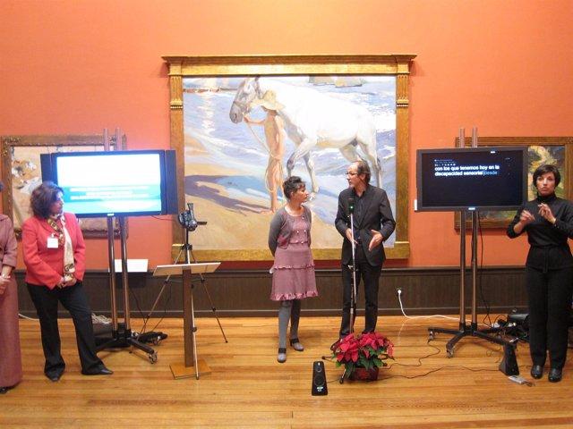 Presentación De La Guía Multimedia En La Sala 1 Del Museo Sorolla