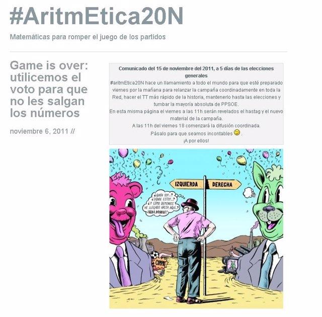 #Aritmetica20n, Campaña Elecciones
