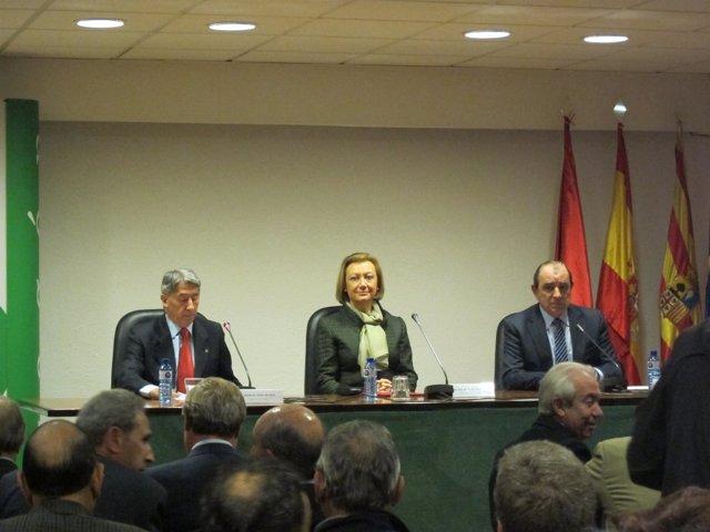 La Presidenta Del Gobierno De Aragón, Luisa Fernanda Rudi