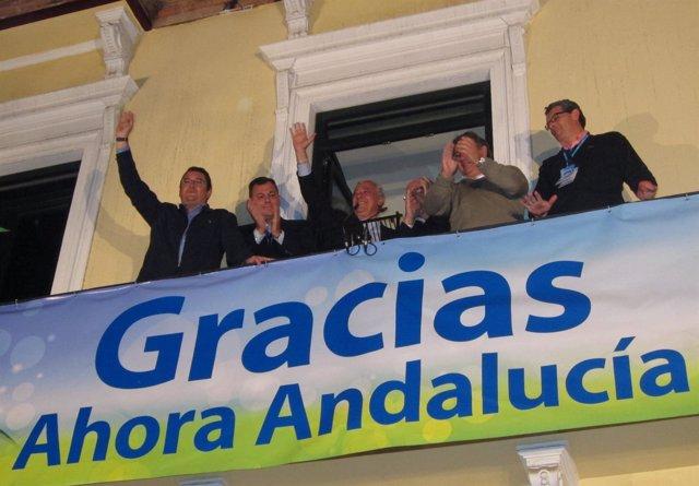 Arenas, En El Balcón De La Sede Del PP De Andalucía