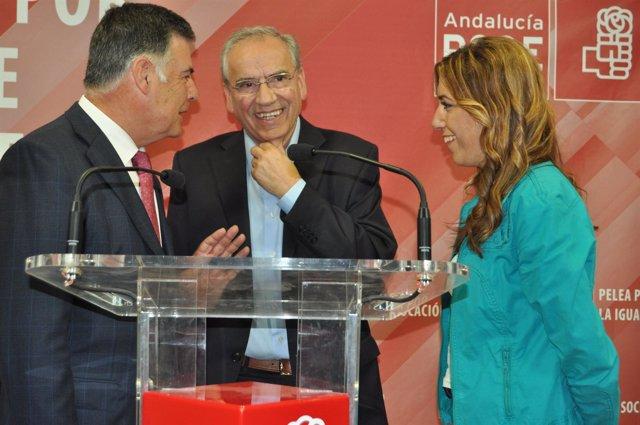 Alfonso Guerra Con Susana Díaz Y José Antonio Viera