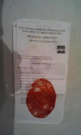 Voto En Val Do Dubra (A Coruña) Con Loncha De Chorizo