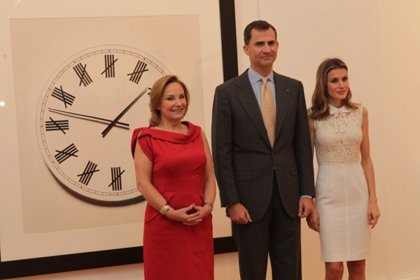 Los Príncipes de Asturias inauguran en Chile una exposición sobre el Premio Nacional de Fotografía Chema Madoz