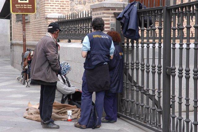 Personas sin hogar en Madrid