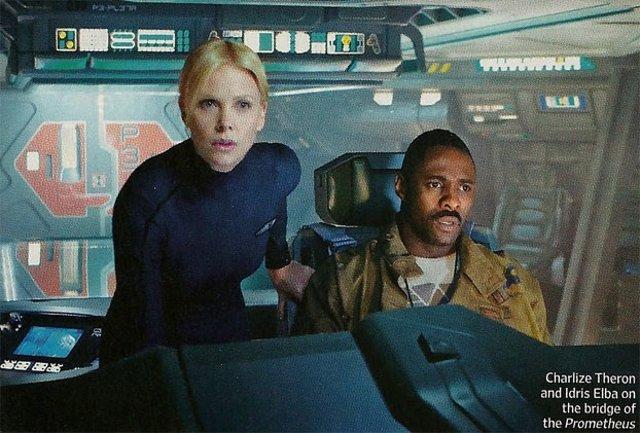 Imagen De Prometheus Con Charlize Thero E Idris Elba