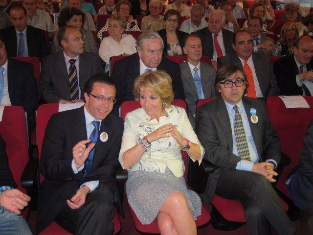 Lasquetty, Aguirre Y Sardinero durante la campaña electoral