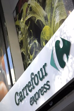 Rótulo De Carrefour Express.