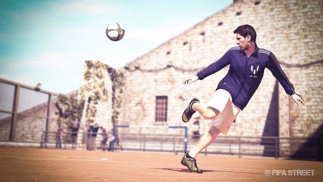 Leo Messi En Una Captura De 'FIFA Street'