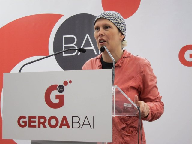 La Candidata Electa De Geroa Bai, Uxue Barkos.