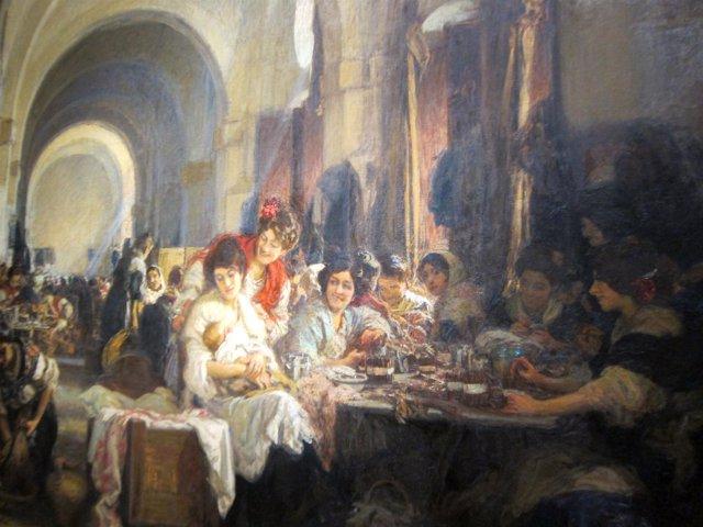 'Las Cigarreras', Óleo De Gonzalo De Bilbao Expuesto En El Bellas Artes De Sevil