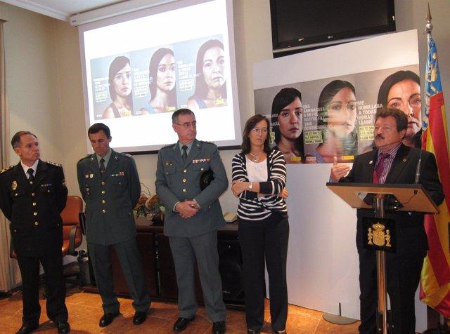 Imagen Del Acto Contra La Violencia De Género En Alicante