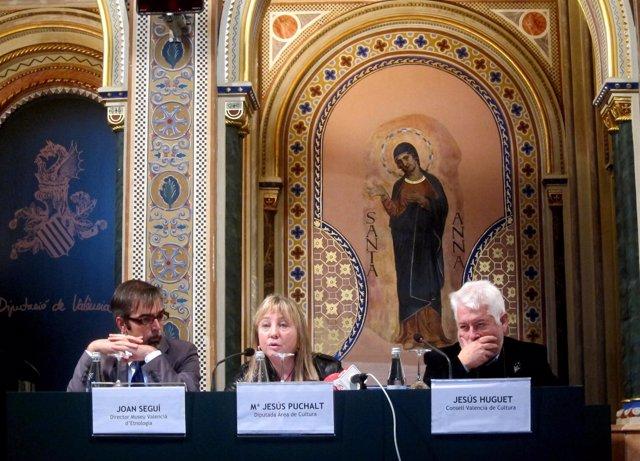 Joan Seguí, Mª Jesús Puchalt, Jesús Huguet Presentan Catálogo Museo De Etnología