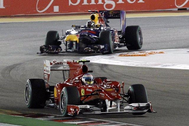 Alonso Y Vettel. Singapur 2010