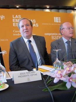 Presidente De Cepyme, Jesús Terciado, Presidente De IEE, JL Feito
